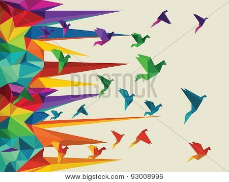 vector illustration of  bird