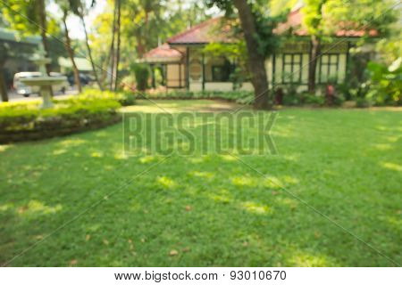 Abstract blurry antique Thai style home