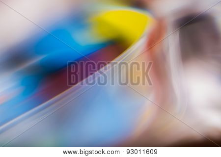 Abstract Background Of Color Reflections In Thick Glass