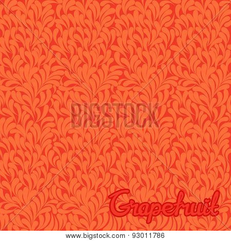 Grapefruit abstract pattern