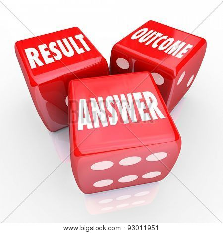 Result Outcome and Answer words