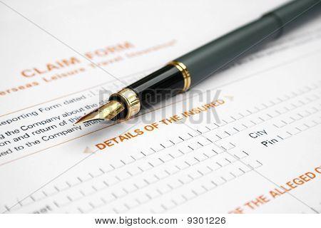 Claim insurance form