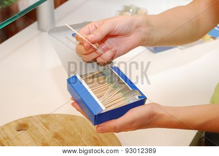 Toothpicks In Box