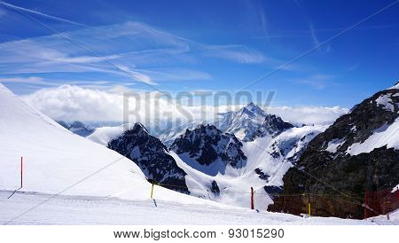 Titlis Snow Mountains And Mist