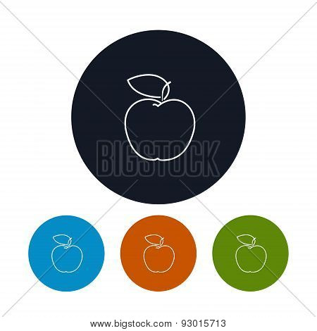 Icon  Apple in the Contours
