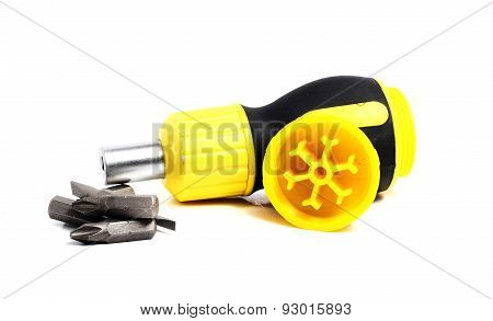 Functional Screwdriver With Interchangeable Inserts