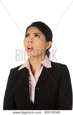 Asian Business Woman Shocked