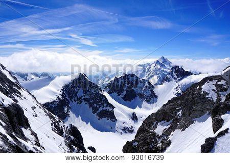 Valley Of Titlis Snow Mountains