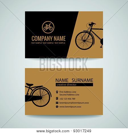 business card for old vintage bicycle shop or about the Bike