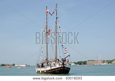 VIPS on Sailing Ship, Venice