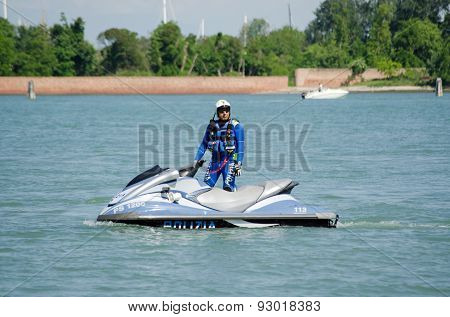 Venice Police Officer on Jet Ski