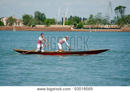 Pair of oarsmen, Venice