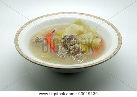 Rustic sour cabbage soup