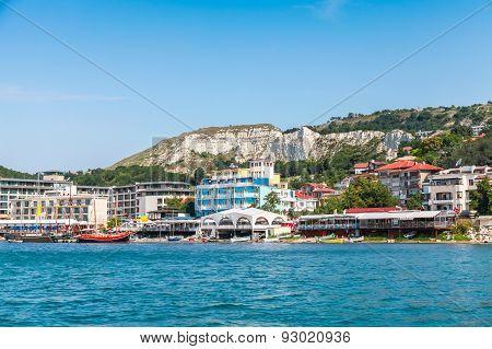 Summer Cityscape Of Balchik Town. Bulgaria