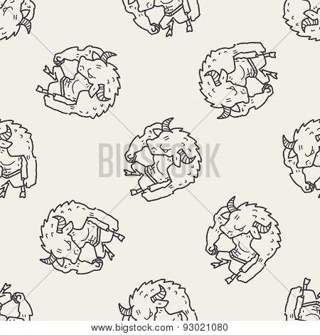 Bull Monster Doodle