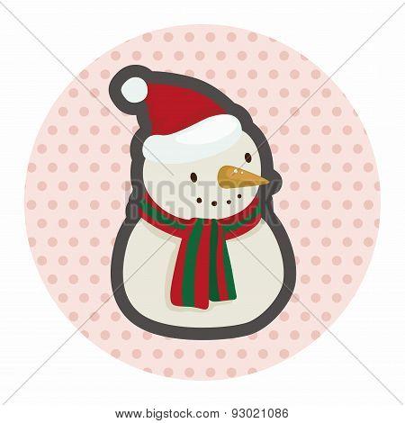 Snowman Cartoon Theme Elements