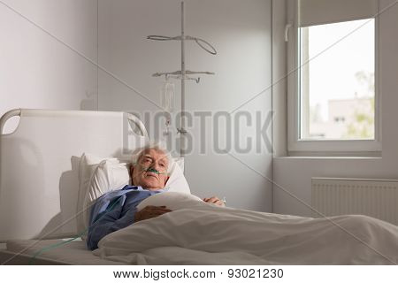 Lonely Patient In Hospital