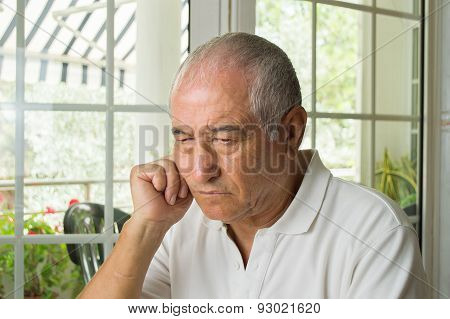 Elderly Man Ost In Thought