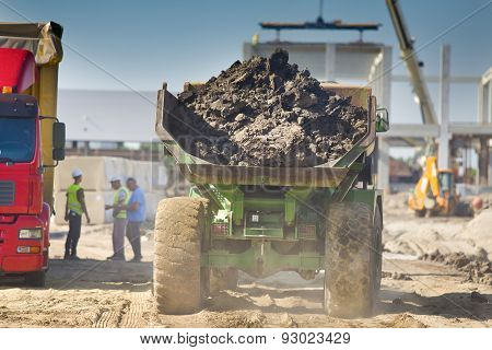 Loaded Truck At Construction Site