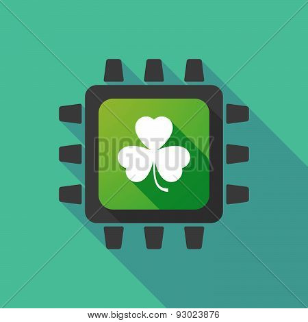 Cpu Icon With A Clover