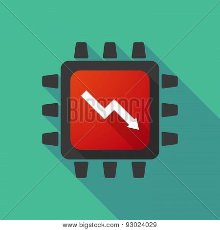 Cpu Icon With A Graph