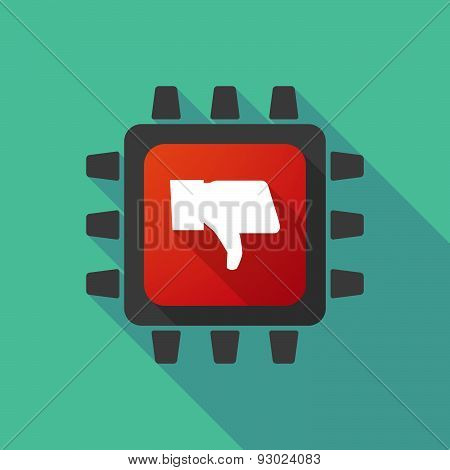 Cpu Icon With A Thumb Hand