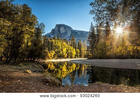 Half Dome Mountain In Yosemite National Park