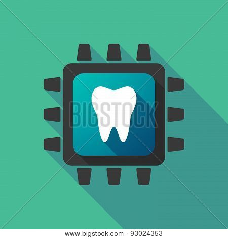 Cpu Icon With A Tooth