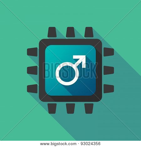 Cpu Icon With A Male Sign