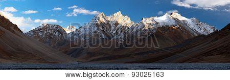 Evening Panoramic View Of Great Himalayan Range