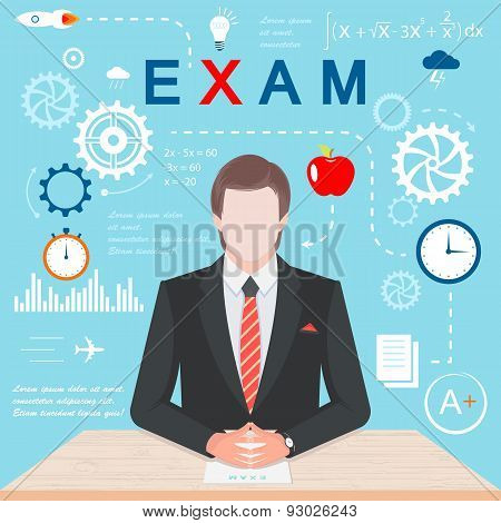 Vector Illustration Of Infographics Exam