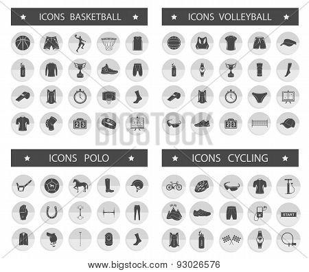 Big Set Of Sport Vector Icons