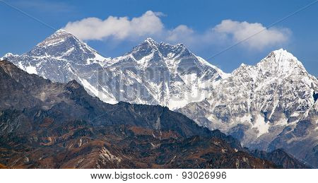 View Of Mount Everest From Pikey Peak - Nepal