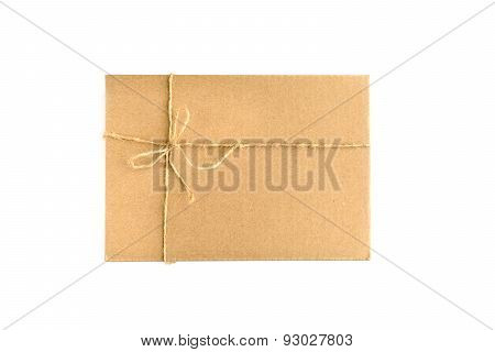 Brown Paper Parcel Wrap Delivery Isolated On White