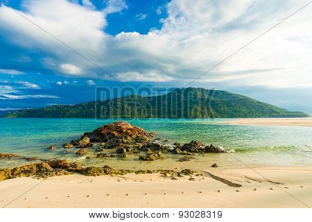 Beach And Tropical Andaman Sea With Blue Sky