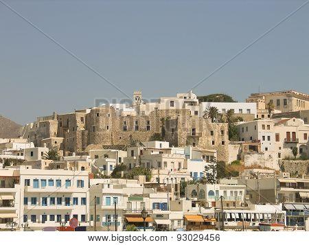 Naxos view. Greek island in Cyclades.