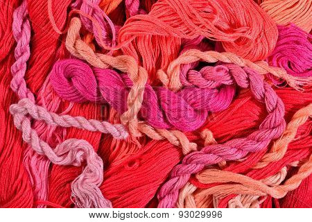 Colorful Embroidery Floss As Background Texture