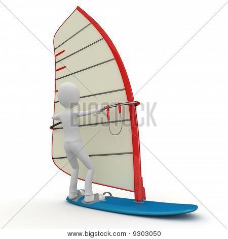 3D Man Surfing