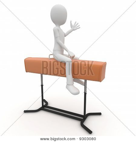3D Man With Pommel Horse