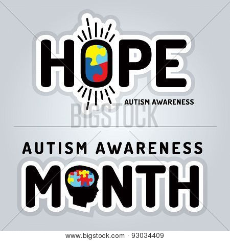 Autism Awareness Graphics Illustration