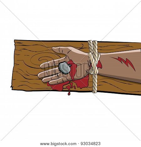 Christ Crucified On The Cross Illustration
