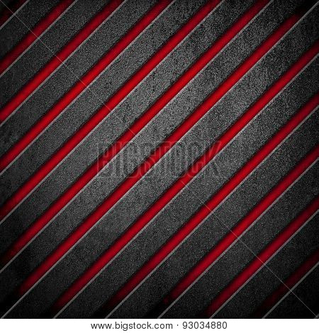 crude metal with striped pattern