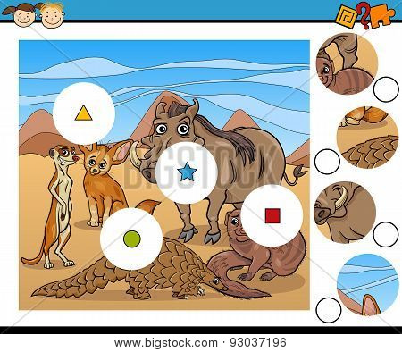 Educational Game with African Animals
