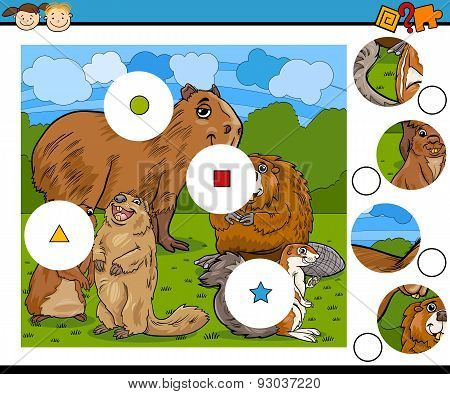 Cartoon Game with Rodent Animals
