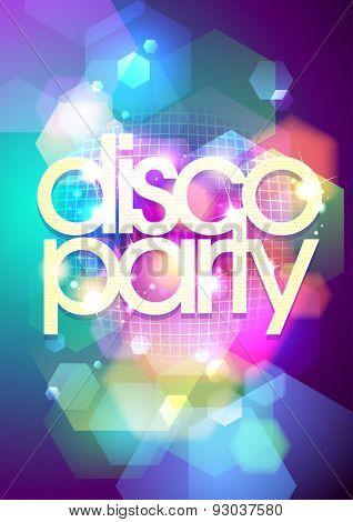 Bokeh disco party background, Eps10.