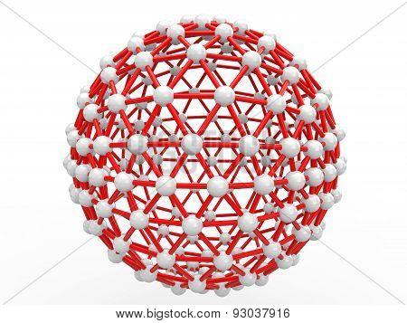 3d scientific geometric sphere