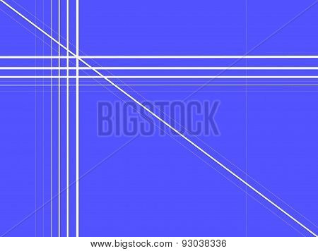 Blue background with straight lines