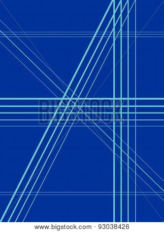 dark blue background with straight lines