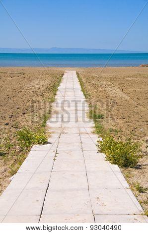 Panoramic view of Barletta. Puglia. Italy.