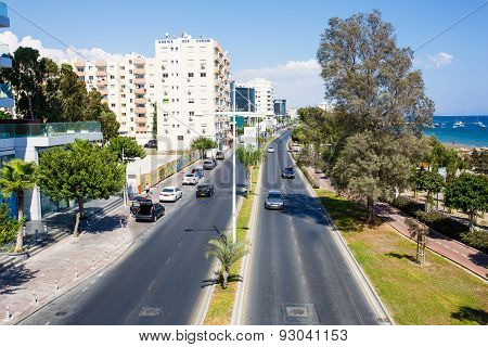 Panoramic view of Limassol city.